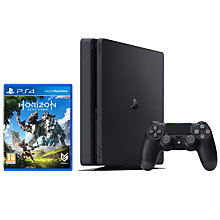 Buy Sony PlayStation 4 Slim Console, 1TB with Horizon Zero Dawn Online at johnlewis.com