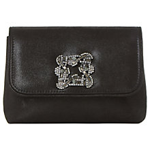 Buy Dune Beston Mini Brooch Clutch Bag, Black Metallic Online at johnlewis.com