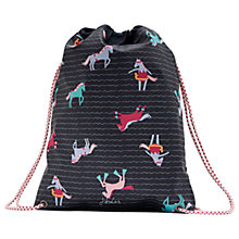 Buy Joules Navy Pony Drawstring Bag, Navy Blue Online at johnlewis.com