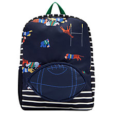 Buy Joules Rugby Children's Backpack, Navy Blue Online at johnlewis.com