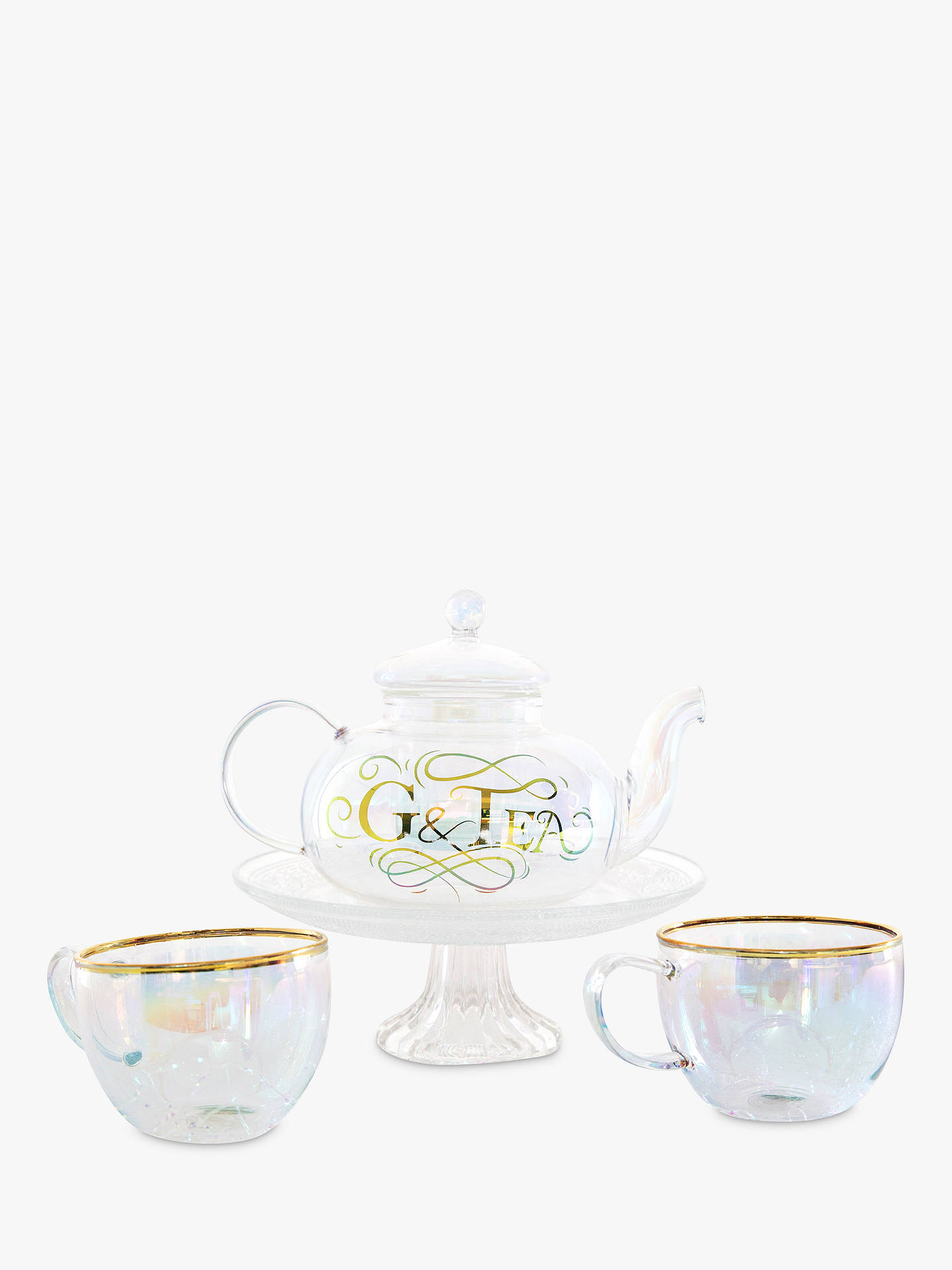 Buy Root7 G&Tea 800ml Glass Gin Teapot and Tea Cups Gift Set Online at johnlewis.com