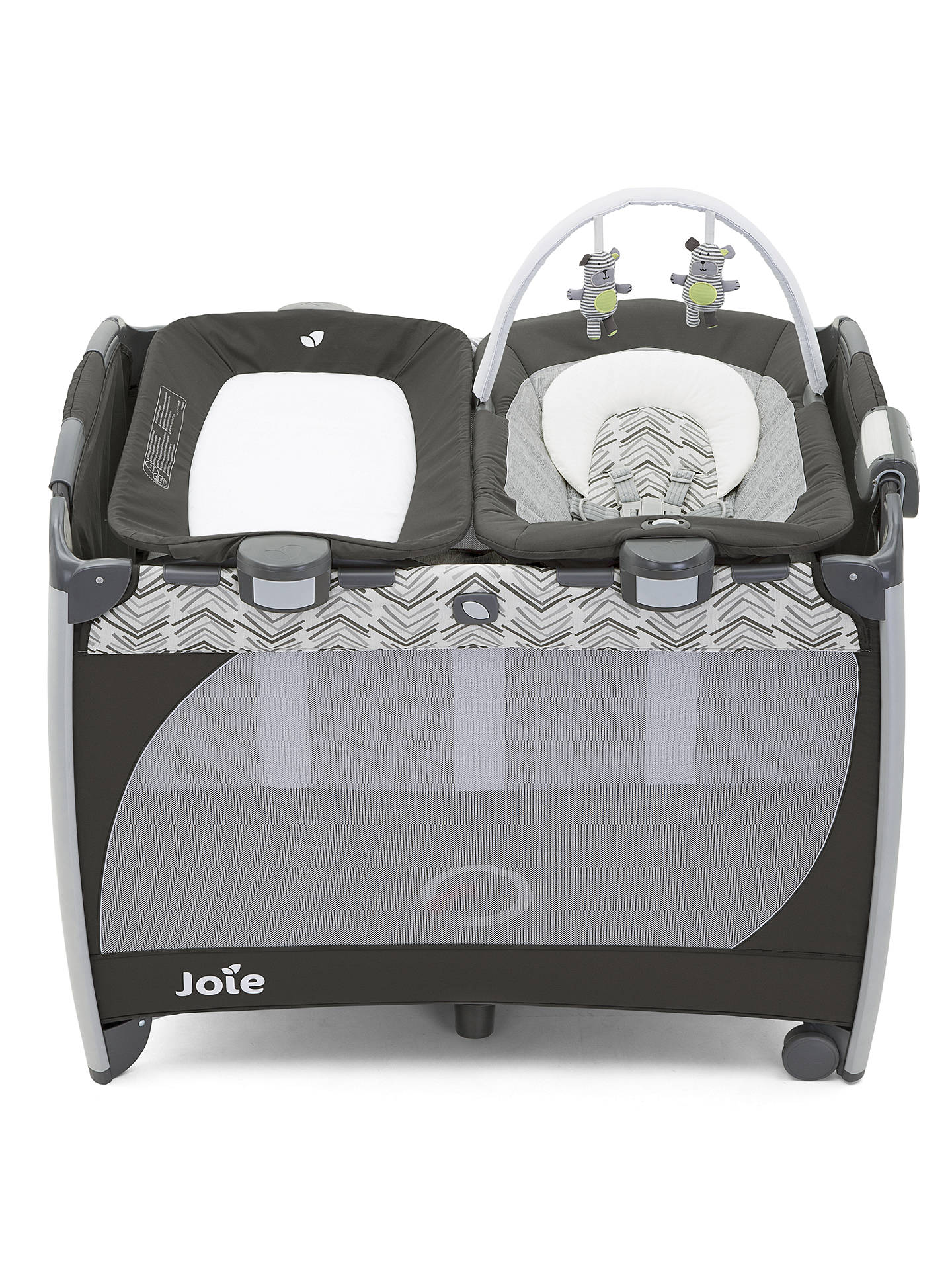 Buy Joie Excursion Change & Bounce Travel Cot, Abstract Arrows Online at johnlewis.com