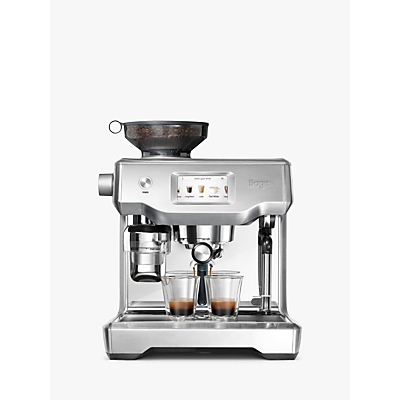Sage by Heston Blumenthal Oracle™ Touch Next Generation Fully Automatic Bean-to-Cup Coffee Machine, Brushed Stainless Steel