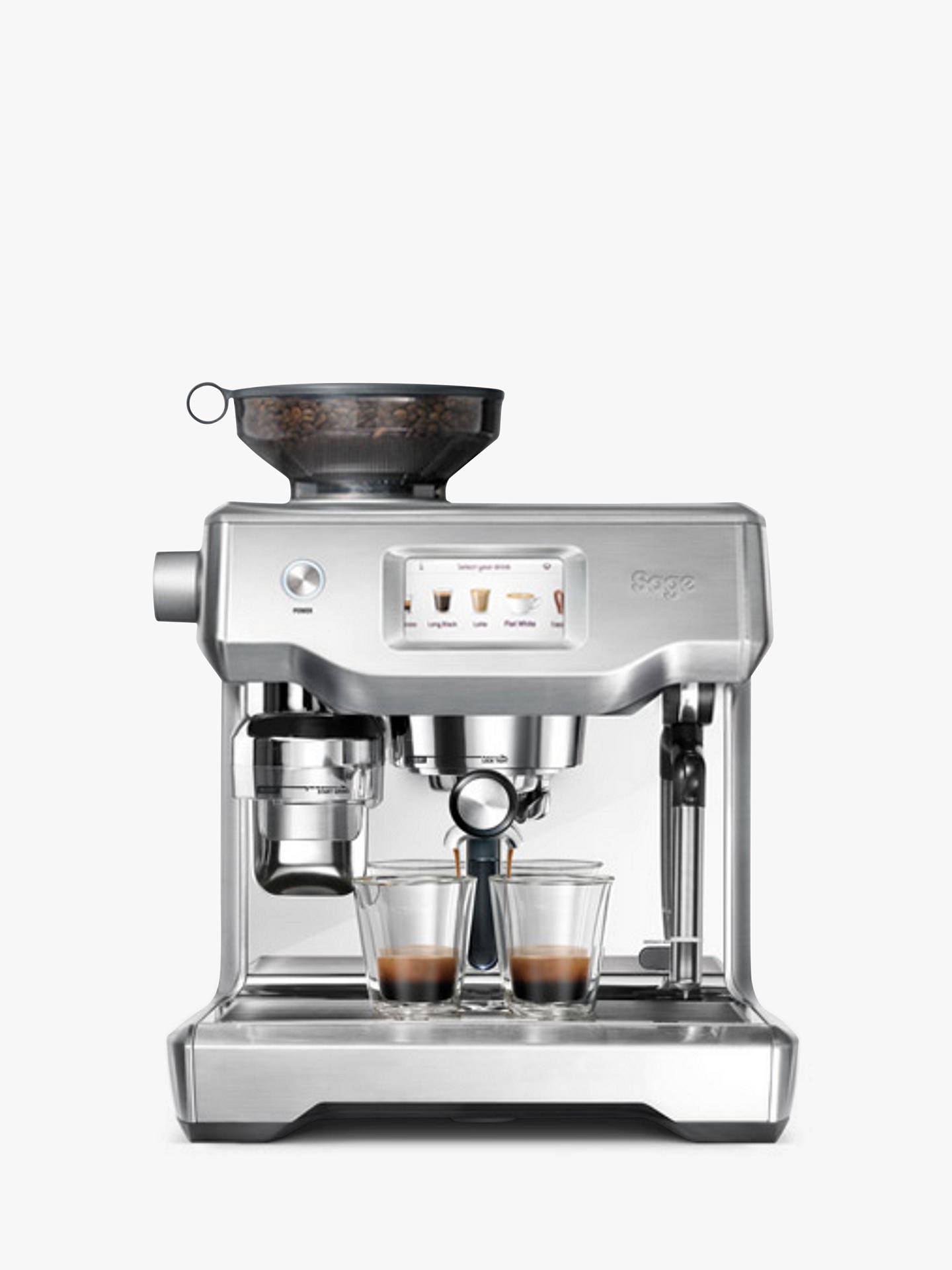 Buy Sage Oracle Touch Fully Automatic Bean-to-Cup Coffee Machine, Brushed Stainless Steel Online at johnlewis.com