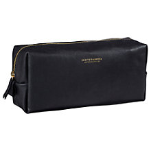Buy Scotch & Soda Leather Wash Bag, Black Online at johnlewis.com
