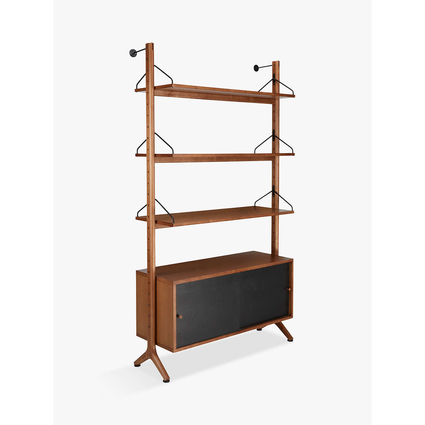 BuyJohn Lewis Soren Wide 3 Shelf Storage Unit, Walnut Online At  Johnlewis.com ...