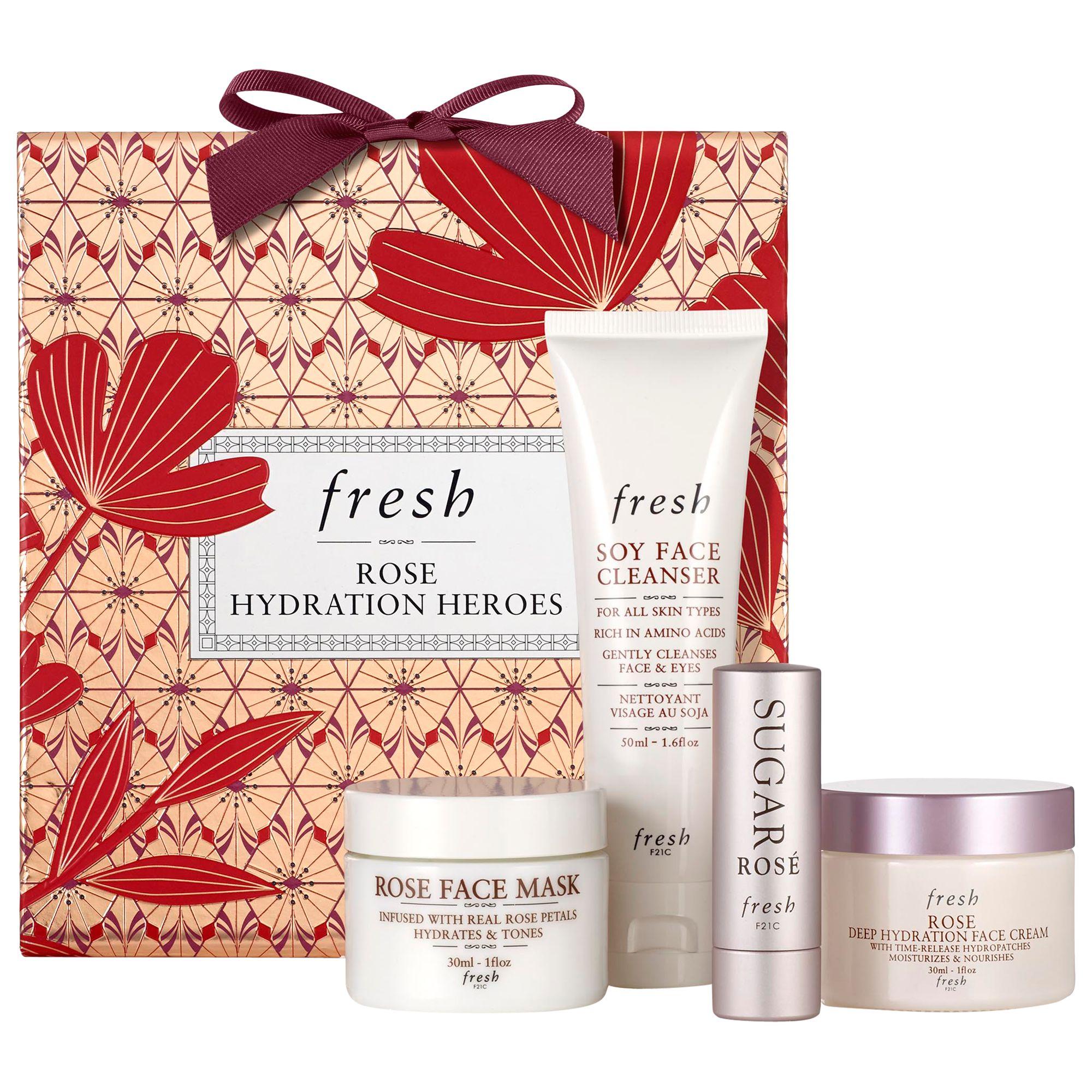 Fresh Rose Hydration Heroes Skincare Gift Set At John Lewis Partners