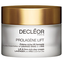 Buy Decléor Prolagene Lift - Lift & Firm Rich Day Cream, 50ml Online at johnlewis.com