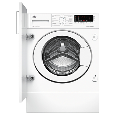Image of Beko WIY84540F Integrated Washing Machine, 8kg Load, A+++ Energy Rating, 1400rpm Spin, White