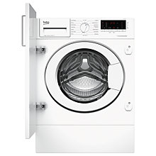 Buy Beko WIY84540F Integrated Washing Machine, 8kg Load, A+++ Energy Rating, 1400rpm Spin, White Online at johnlewis.com