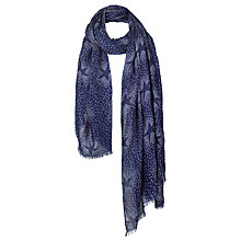 Buy Fat Face Star Print Scarf, Navy Online at johnlewis.com