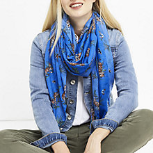 Buy Oasis ZSL Tiger Scarf, Multi Blue Online at johnlewis.com