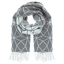 Buy Mint Velvet Geometric Blanket Scarf, Dark Grey Online at johnlewis.com