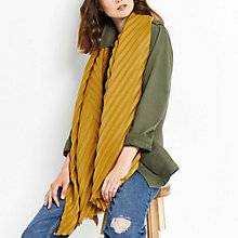 Buy Oasis Sydney Wide Crinkle Scarf, Ochre Online at johnlewis.com