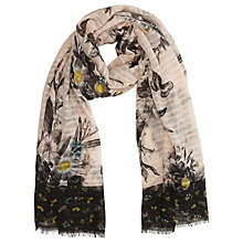 Buy Oasis Shipwreck Print Scarf, Multi/Pink Online at johnlewis.com