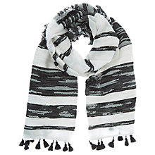 Buy Mint Velvet Tassel Jacquard Scarf, Ivory Online at johnlewis.com