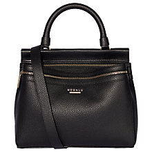 Buy Modalu Billie Leather Mini Grab Bag, Black Online at johnlewis.com