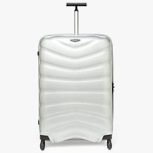 Buy Samsonite Firelite 4-Wheel 81cm Large Suitcase, Silver Online at johnlewis.com