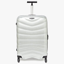 Buy Samsonite Firelite 4-Wheel 69cm Medium Suitcase, Silver Online at johnlewis.com