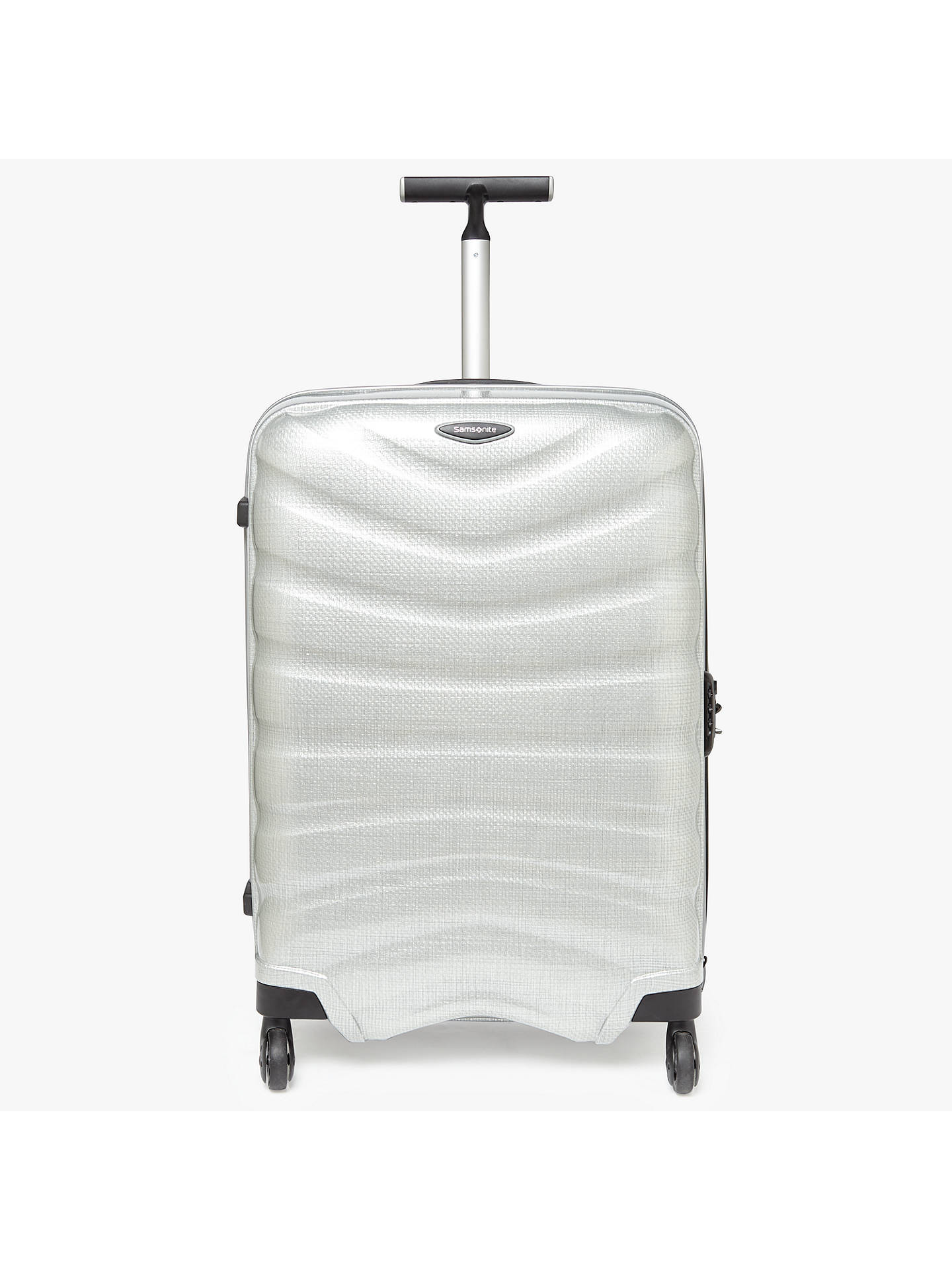Samsonite Firelite 4-Wheel 69cm Medium Suitcase, Silver at John