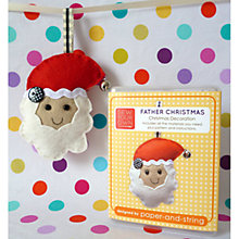 Buy Sew Your Own Father Christmas Decoration Kit Online at johnlewis.com