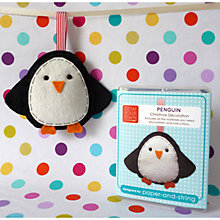 Buy Sew Your Own Penguin Decoration Kit Online at johnlewis.com