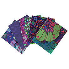 Buy Freespirit Kaffe Classic Printed Fat Quarter Fabrics, Pack of 5, Peacock Online at johnlewis.com