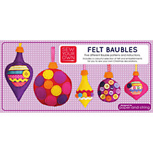 Buy Paper and String Felt Baubles Craft Kit Online at johnlewis.com