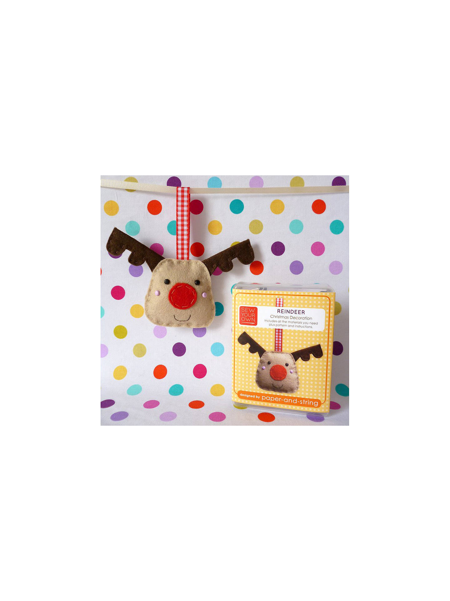 BuySew Your Own Reindeer Decoration Kit Online at johnlewis.com