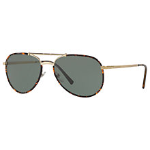 Buy Burberry BE3091J Aviator Sunglasses Online at johnlewis.com