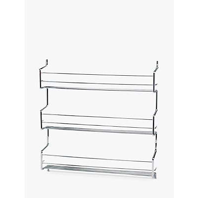 Hahn Wall-Mounted Steel Spice Rack with 3 Shelves
