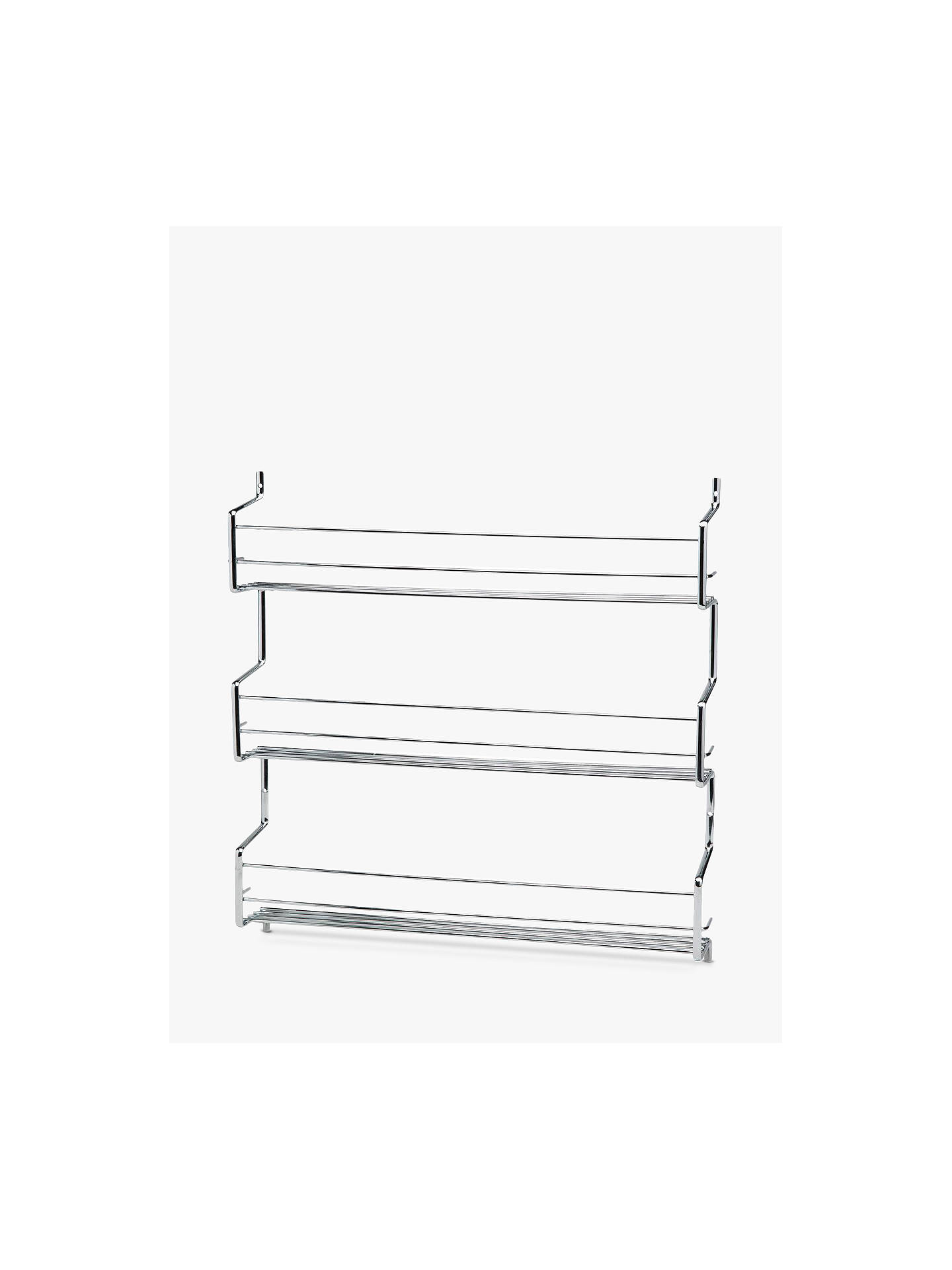Hahn Wall-Mounted Steel Spice Rack with 3 Shelves at John