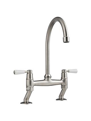 John Lewis & Partners Move 2 Lever Bridge Kitchen Tap