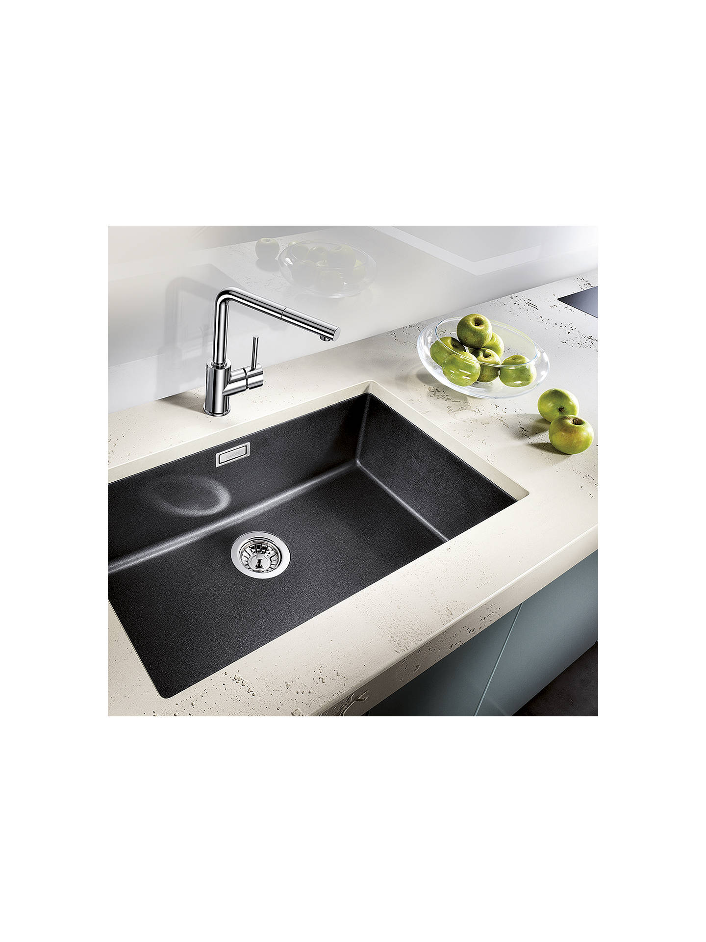 Buy Blanco Subline 700-U Single Bowl Undermounted Composite Granite Kitchen Sink, Anthracite Online at johnlewis.com