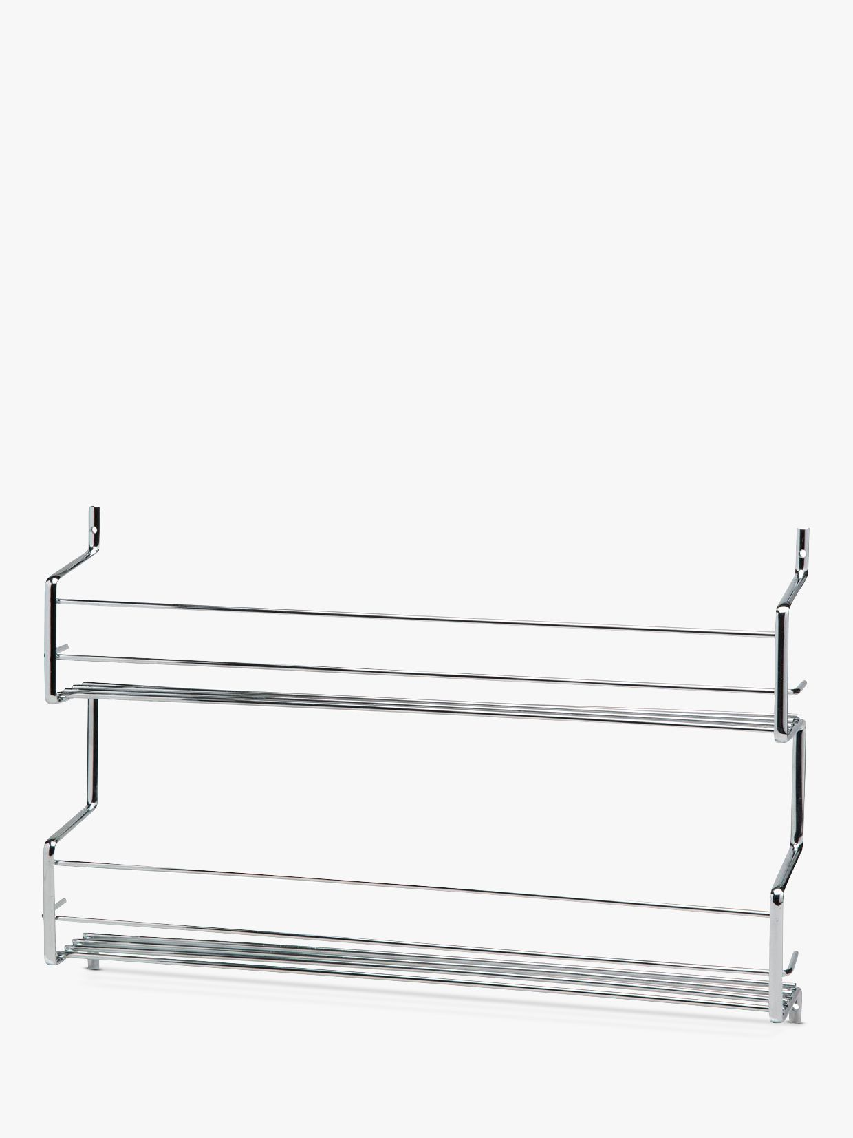 Hahn Wall Mounted Steel Spice Rack With 2 Shelves