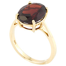 Buy A B Davis 9ct Gold 4 Claw Set Oval Ring Online at johnlewis.com