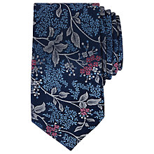 Buy Ted Baker Basic Floral Pattern Silk Tie, Navy Online at johnlewis.com