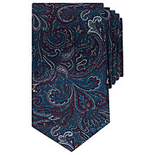 Buy Ted Baker Belgium Paisley Pattern Silk Tie, Teal Online at johnlewis.com