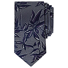 Buy Ted Baker Israel Floral Pattern Silk Tie, Purple Online at johnlewis.com