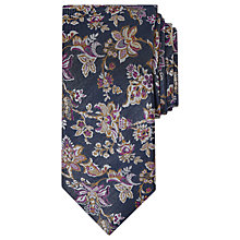 Buy Ted Baker Deso Floral Pattern Jacquard Silk Tie, Navy Online at johnlewis.com