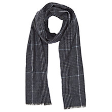 Buy Reiss Freeno Check Scarf, Charcoal Online at johnlewis.com