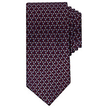 Buy Ted Baker Balti Geo Pattern Silk Tie, Purple Online at johnlewis.com