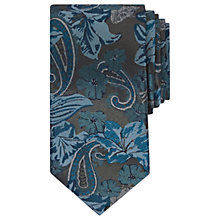 Buy Ted Baker Hawthor Floral Pattern Silk Tie, Teal Online at johnlewis.com