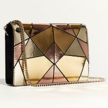 Buy Karen Millen Metallic Patchwork Shoulder Bag, Multicolour Online at johnlewis.com