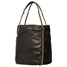 Buy Karen Millen Chain Handle Bucket Bag, Black Online at johnlewis.com