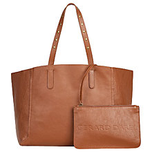Buy Gerard Darel Leather Tote Bag, Camel Online at johnlewis.com