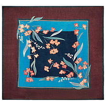 Buy Hobbs Flora Scarf, Turquoise Online at johnlewis.com