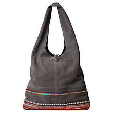 Buy East Leather Patchwork Jute Bag, Greystone Online at johnlewis.com