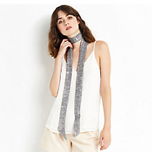 Buy Oasis Skinny Scarf, Silver Online at johnlewis.com