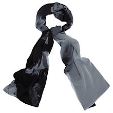 Buy Phase Eight Elsie Feather Print Scarf, Grey/Black Online at johnlewis.com